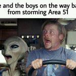 Area 51 Raid Memes