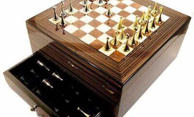 Maestro Chess Board Cigar Humidor